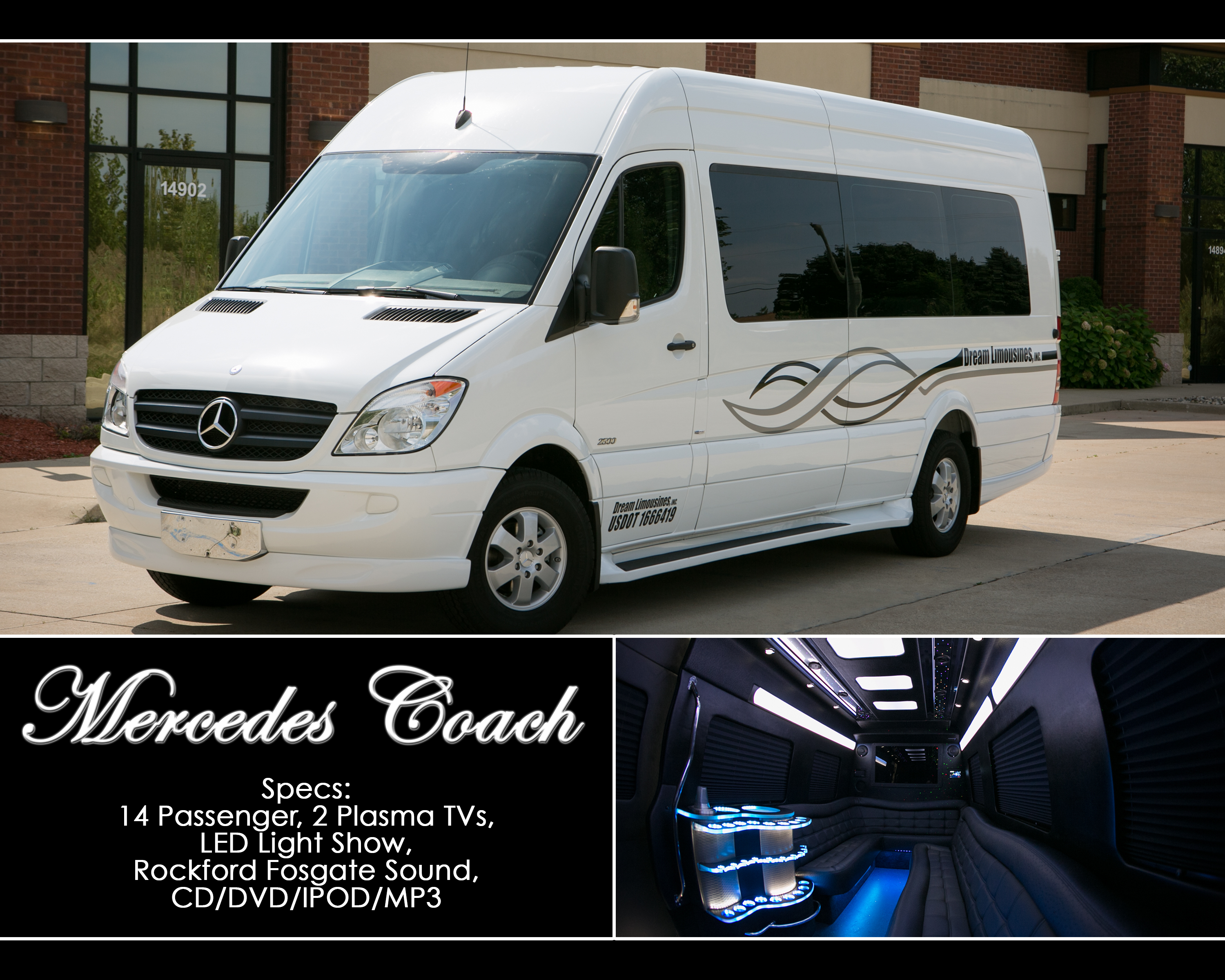 White Mercedes Coach 2 (8x10)