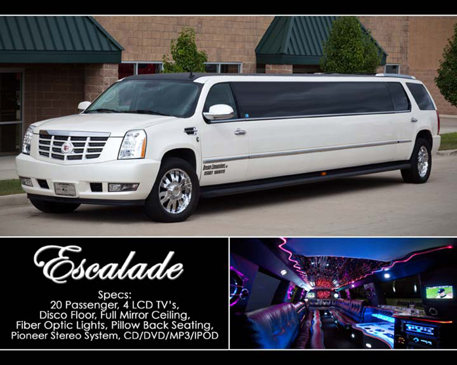 Cadillac Escalade Limousine in Shelby Township, Rochester, Rochester Hills