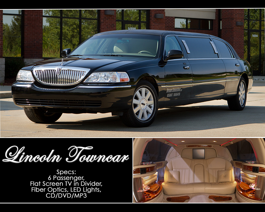 Lincoln Towncar Rental in Shelby Township, Rochester, Utica